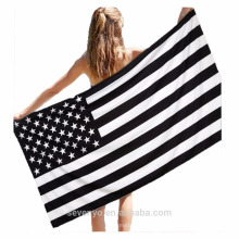 100% cotton extra soft American flag beach towels
