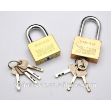 Yalian Best Price Long Shackle Golden Plated Square Iron Padlock