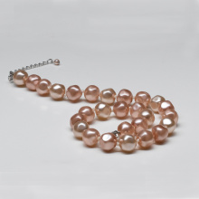 Simple Design Baroque Pink Pearl Necklace