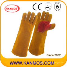 Industrial Hand Safety Cowhide Split Leather Welding Work Gloves (11116)