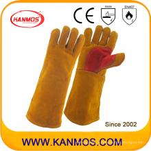 Промышленные рукава безопасности Скрытая кожаные перчатки для сварки (11116)