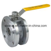 Válvula de esfera de aço inoxidável da flange da bolacha