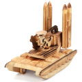 Modelo de juguete de madera del cohete del excavador plano de los niños de la marca de FQ