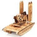 FQ marca crianças avião escavadeira foguete modelo de brinquedo de madeira