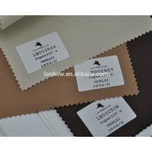 Lã de lycra luz high-end marrom terno tecido para serviço de estoque