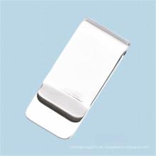 Logotipo de promoción promocional barata Stainess Steel Metal Clips de dinero