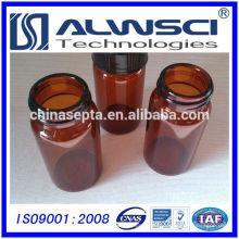 Fabricación 40ML Amber EPA VOA Vial con tapa PP, Vidrio borosilicato