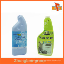 Customized PVC shrink plastic label for toilet cleaner bottle packaging with printing