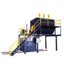 foaming recycling machine in scouring pad production plant