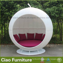 Patio Furniture White Rattan Apple Bed Garden Furniture