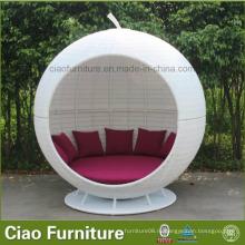 Мебель для патио Белый ротанга Apple Bed Garden Furniture