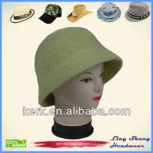 LSA51 Ningbo Lingshang Angora y lana para el sombrero del fedora del partido de la manera de las mujeres