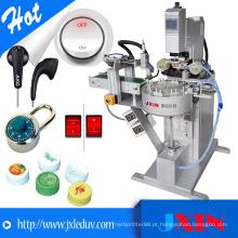 Impressora de almofada de logotipo de alta qualidade de 1 cor para impressão de caixa de plástico ou garrafa de leite
