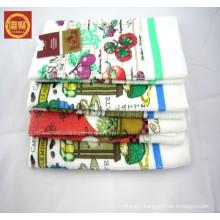 embroidery design China factory wholesale kitchen tea towel 100% microfiber towel