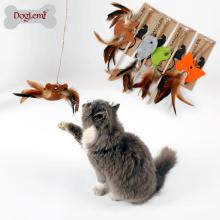 2018 Meilleures fournitures de chat Bell interactive chat jouet Nature feutre plume Teaser