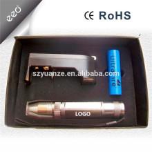 Lampe torche rechargeable en acier inoxydable à LED en inox, torche gemme