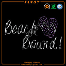 Beach Bound hot fix rhinestone motif