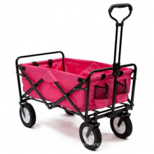 Pink Sports Collapsible Folding Utility Wagon Shopping Beach