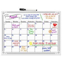 Магнитные часы с календарем и магнитный блокнот