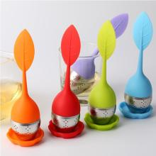 Orange Red Green Silicone SS Infuser Green Tea Strainer Bag