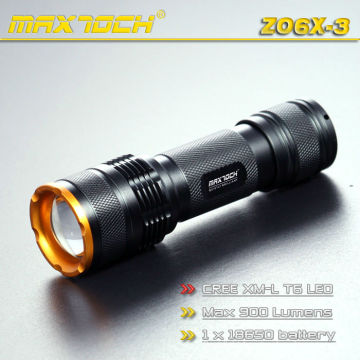 Maxtoch ZO6X-3 EDC 1PCS 18650 Cree T6 Zoom Flashlight