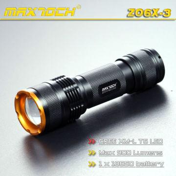 Maxtoch ZO6X-3 1000 Lumen Zoom foco LED Torch