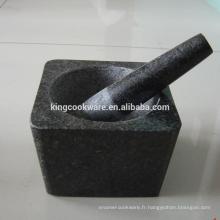 granit naturel, granit Matériau mortier et pilon en pierre