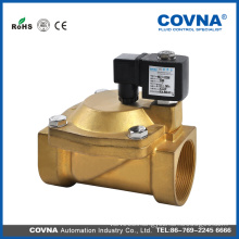 pilot operated 8 inch electric valve brass 12V water valve with 1million cycles solenoid coil