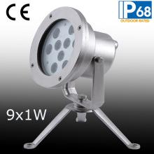 IP68 9W LED Underwater Spot Light, LED Underwater Fountain Light