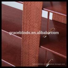 Persianas venezianas de madeira revestidas com UV de 25/35/50 mm