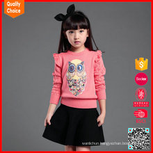 Hot selling custom fashion hand knit sweater designs for girls