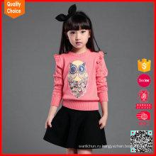 Горячая продажа пользовательские мода ручной вязать свитер конструкций для девочек