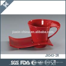 043-2R 180CC taza y platillo de café de cerámica