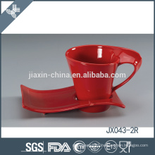 043-2R 180CC Ceramic coffee cup and saucer