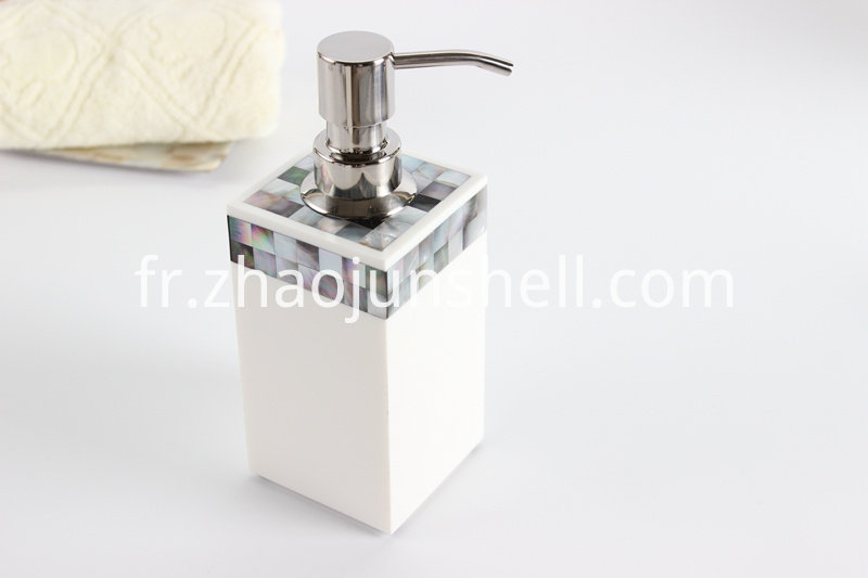 mother of pearl soap pump