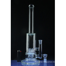 10 Sprinkler Barrel Perc Hookah Glass Smoking Water Pipe (ES-GB-578)