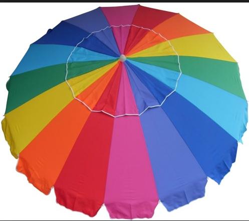 sombrilla de playa grande promocin del arco iris - Sombrillas De Playa Grandes