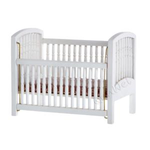 1/12 scale wooden vintage dollhouse furniture baby bed