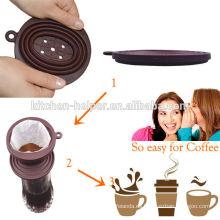 Filtro de café titular / goteo de café de silicona / filtro de café de silicona para camping, escuela, senderismo, mochilero y uso al aire libre