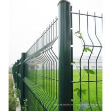 Cerco de alambre soldado de tres curvas con poste de melocotón en 50X200mesh