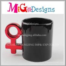 Tasses à café en céramique noires émaillées à la main OEM