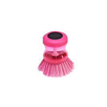 9.5*7*7 Pink Good Price Plastic Palm Scrub Pot Dish Brush