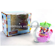B/O universal swan with music/colorful light new kids toys for 2014