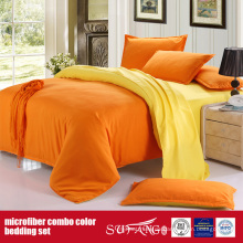 90GSM Einfarbig Komfortable Combo Mikrofaser Bettbezug