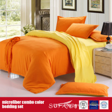 90GSM Solid Color Comfortable Combo Microfiber Duvet Cover