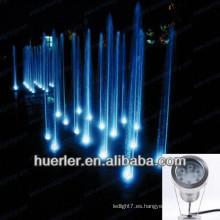 2013 la venta caliente 9w 12w ip68 RGB llevó la luz subacuática, luz de la bomba de la fuente de agua