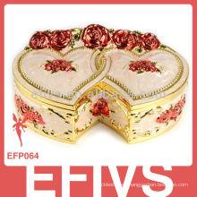 Tradicional espejo caja de joyas decorativas al por mayor para los anillos