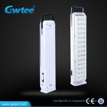 Luz recargable de emergencia de alta capacidad, luz de emergencia portátil