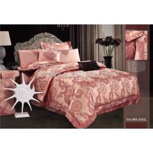 Sistema de hoja determinado de la cama del lecho brillante de lujo de la reina 4PCS China Supplier