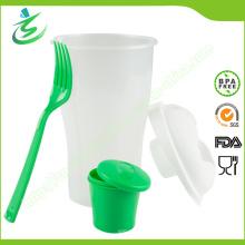 800ml Ensaladera Shaker Cup con logotipo personalizado